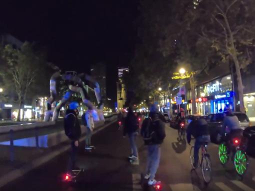Electric Empire bei der Critical Mass Kreuzberg