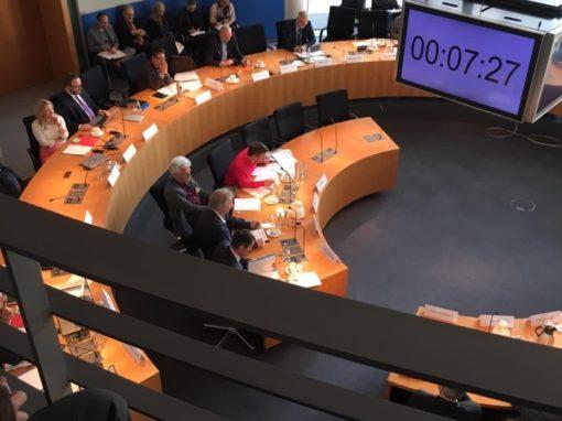 Anhörung beim Verkehrsausschuss