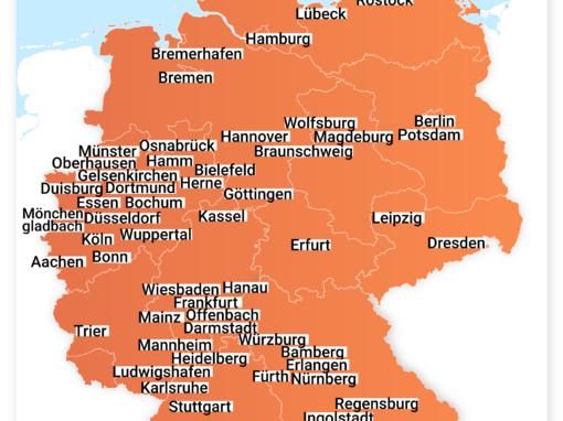 In diesen 58 Städten werden Sharing-Anbieter demnächst E-Tretroller anbieten!