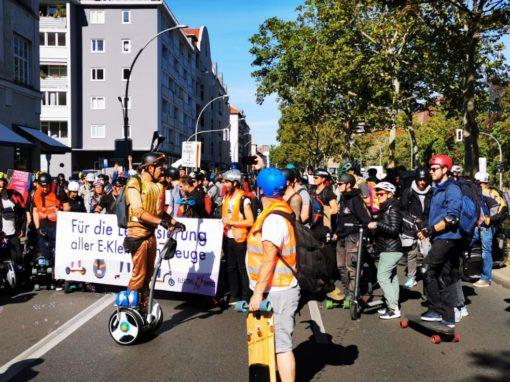 Elektrokleinstfahrzeug Demo 12.10.2019 in Stuttgart